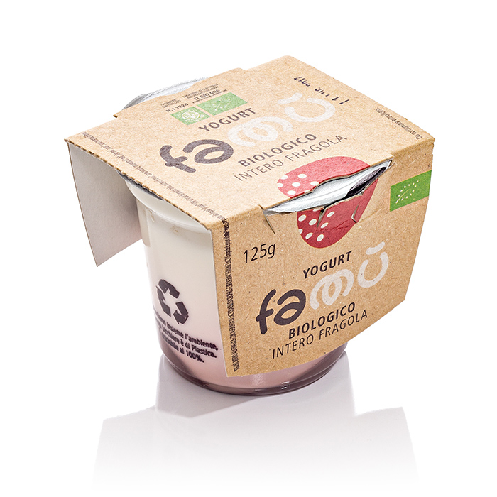 Yogurt FaMu biologico_Fragola 125